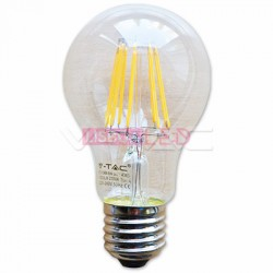 Lamp/A60/Transp/E27/Fil/8W/75W/1000Lm/2700K/V-TAC4363