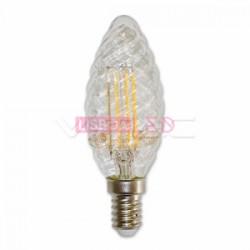 Lamp/Ch/4W/40W/400Lm/Torc.trp/E14/Fil./2700K/Dim/V-TAC-4367