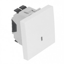 INTERRUPTOR LUMINOSO 2 MODULOS BRANCO MATE 45012SBM - 45012SBM