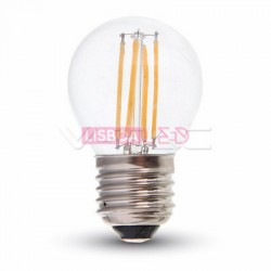 Lâmpada LED E27 4w 30W 2700K  320Lm G45 FILAMENTO DIMMABLE - 8954395