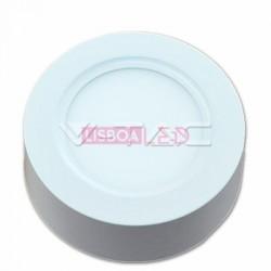 8W Painel Saliente Redondo Branco Neutro 120º 720Lm - 8954804
