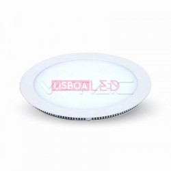 8W Mini Painel Redondo Branco Quente 120º 720Lm - 8954823
