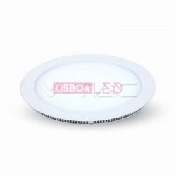 15W Mini Painel Redondo Branco Quente 120º 1350Lm - 8954829