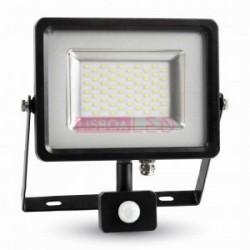50W Projector SMD c/ Sensor Grafite Branco Neutro 4000Lm - 8955702
