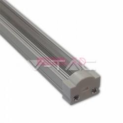 Perfil Aluminio 1 Mt Estreito Difusor Curvo Transparente - 8959983