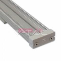 Perfil Aluminio 1 Mt Largo Difusor Liso Transparente - 8959985