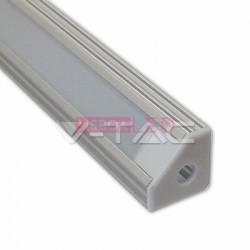 Perfil Aluminio 1 Mt Canto Difusor Liso Opalino - 8959987