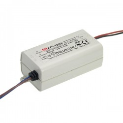 Fonte Aliment. LEDs 12VDC 1A 12W 77x40x29mm - Mean Well - APV-12-12