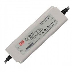Fonte Aliment. 12VDC 12,5A 150W IP67 - Mean Well - LPV-150-12
