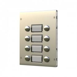 Módulo-botoneira - 4 + 4 botões, acab. alumínio - VX-8844D/A