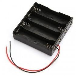 Suporte de pilhas 4xAA com fios de 150mm - 035-0383