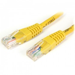 PATCH CABLE RJ45 CAT5e 1,0Mt AMARELO - 140205010AMR