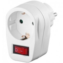Ficha schuko 16A 3500W 230V com interruptor - 047-0447