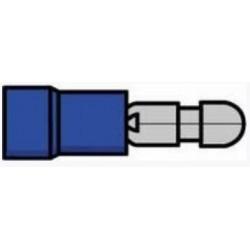 Terminal redondo macho isolado azul - 011-0425