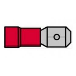 Terminal macho isolado vermelho - 011-0392