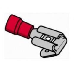 Terminal macho/fêmea isolado vermelho - 011-0398