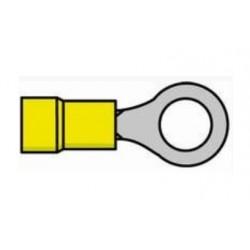 Terminal de olhal isolado amarelo 4.0-6.0mm 6.4mm