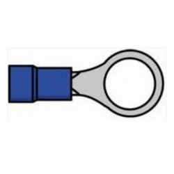 Terminal de olhal isolado azul - 011-0411