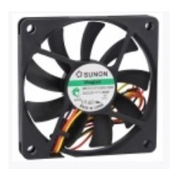 VENT. 70x70x10mm 12VDC 1.66W Sunon MB70101V1-000U-G99 - 048-0162