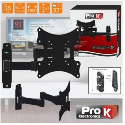 "SUPORTE LCD 12/37"" +15º VESA 50/200 35KG PROK - FX206"