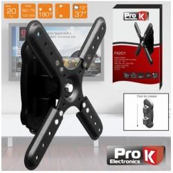 "SUPORTE LCD/LED 12/37"" 10º VESA 200/200 20KG PROK - FX201"