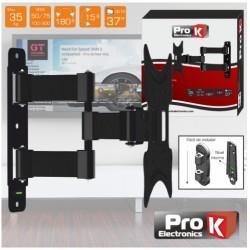 """SUPORTE LCD/LED 12/37"""" C/ 2 BRAÇOS VESA 200/200 35KG PROK - FX207"""
