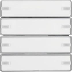 BP KNX Q. X 4 TECLAS EASY P-ETIQ, ALUM. 80144321 - 80144321