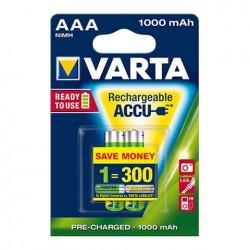 PILHA RECARREGAVEL VARTA PROFESSIONAL LR03 AAA 1000MAH - 9005703