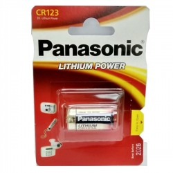 Pilha Litio CR123A 3.0V LiMnO2 - Panasonic - 112-0210