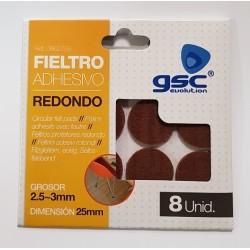 Pack 8 feltros adesivos red. 25mm castanho GSC-3802759 - 5003802759