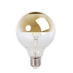 LAMP. LED FIL. G95 4W 2300K E27 Dim 1/2 CALOTE ESPELH. CALEX