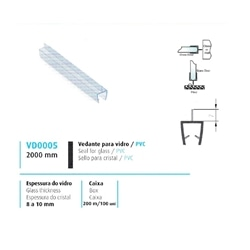 VEDANTE P/ VIDRO/PVC 8/10MM - 708VD0005