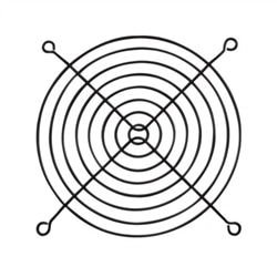 Grelha metálica 120x120 mm PRETO - 047-0332