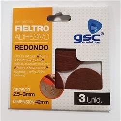 Pack 3 feltros adesivos red. 42mm castanho GSC-3802763 - 5003802763