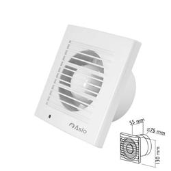 Extrator p/ ventilação 130x55x75mm branco - ASCVW075BR