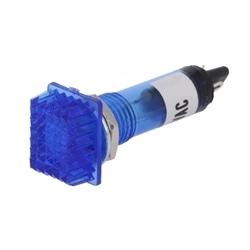 Indicador com lâmpada de neon AZUL 230VAC 12x16mm FURO 10mm