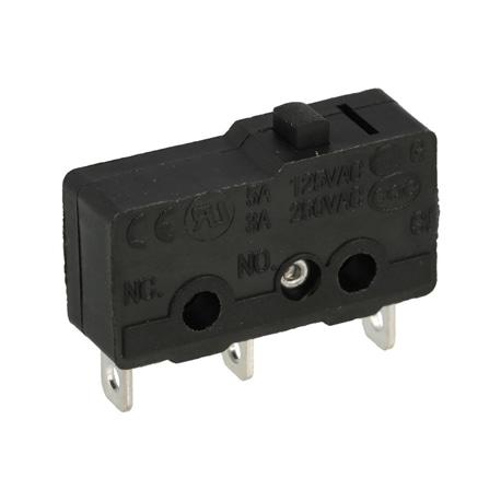 Microswitch miniatura sem patilha SPDT 250V 3A - 010-0176