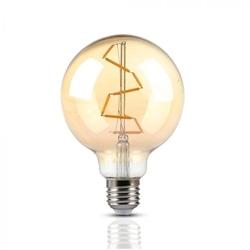LAMP. LED FIL. 4W E27 G95 2200K AMBAR V-TAC 7146