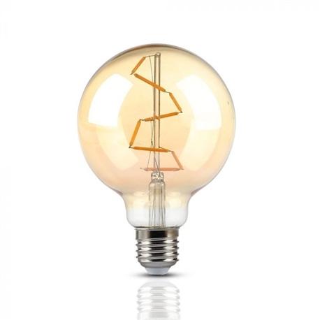 LAMP. LED FIL. 4W E27 G95 2200K AMBAR V-TAC 7146 - 8957146