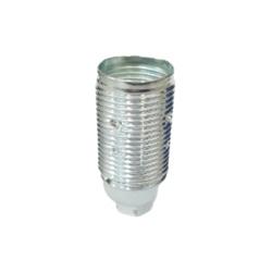 Suporte de latão E14 roscado 210º c/terra cromado - 501152002