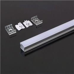 Perfil Alumínio Dif. Opalino 17.2x15.5x2000mm V-TAC 3366 - 8953366