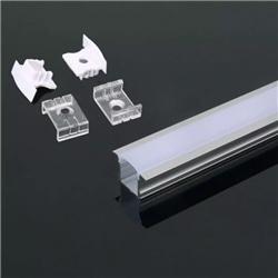 Perfil Alumínio C/ Aba Dif. Opalino 23x15.5x2000 V-TAC 3351 - 8953351