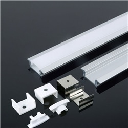 Perfil Alumínio C/ Aba Dif. Opalino 24.7x7x2000 V-TAC 3368 - 8953368