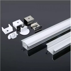 Perfil Alumínio Aba Dif. Opalino 24.5x12.2x2000 V-TAC 3357 - 8953357