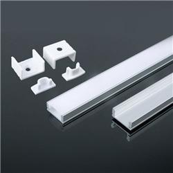 Perfil Al/Br/2000x7,0x17,4mm/ Dif.Liso Opal/V-TAC-3355 - 8953355