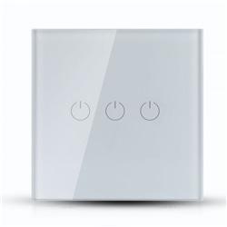 Interruptor Triplo WI-FI Branco 86x86x35 V-TAC 8419