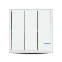 Interruptor Triplo WI-FI Branco IP54 86x86x11 V-TAC 8462