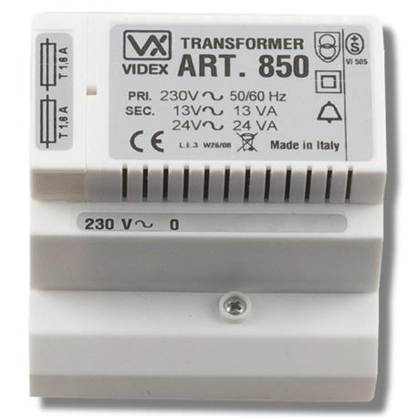 TRANSFORMADOR 230Vac-13Vac DIN5 87,5mm VIDEX REF. 850 - VX-850