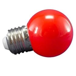 LAMPADA LED P45 E27 1W VERMELHO