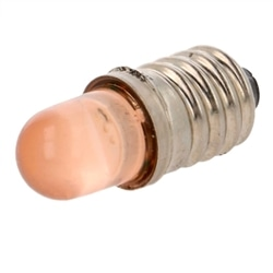 LAMP. LED LARANJA E10 230VAC 170mcd POLAM-ELTA LO-E10-230AC - LO-E10-230AC